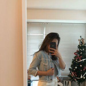 Jackets & Blazers - Washed denim jacket